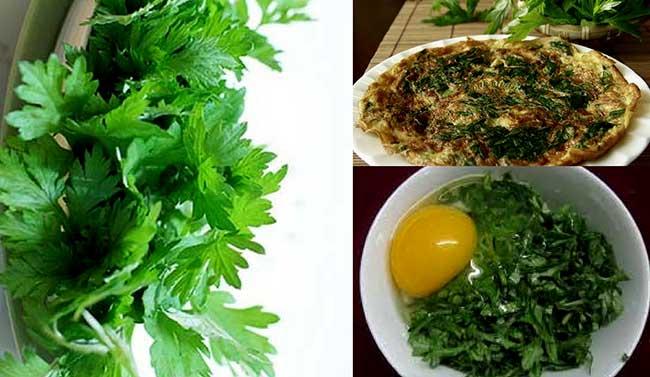 Các món ăn ngon từ rau ngải cứu